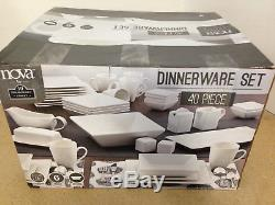 10 Strawberry Street Nova Square 40 Piece Dinnerware Set NEW Other