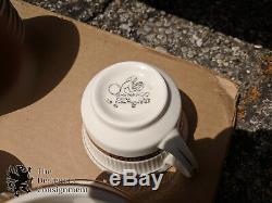 1005 Pc Shenango Greek Key China Set Restaurant Dinnerware White Black & Gold