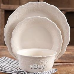 12-Piece Porcelain Dinnerware Set Dinner Dish Plates Service Home Kitchen Kit