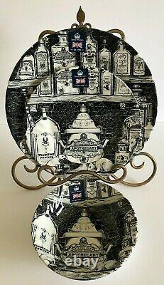 12pc ROYAL WESSEX Apothecary DINNERWARE SET Skull Witches Brew HALLOWEEN NWT
