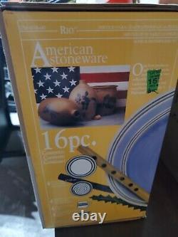 16 Pc PFALTZGRAFF RIO Stoneware dinnerware dishes set new in Box