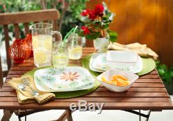 16 Piece Corelle Square Happy Days Dinnerware Set
