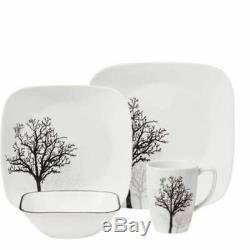 16-Piece Dinnerware Set Service For 4 Dish Corelle Dining Table Dishes New