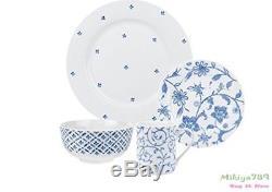 16 Piece Spode Blue Indigo Blue And White Dinnerware Set 4 Services Bowls Mug
