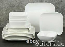 18 Piece Porcelain Crockery Dinnerware Dinner Set Plates Bowls Dining Set For 6