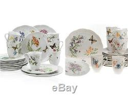 18Pc Floral Porcelain Dinner Service Set Quality Durable Dishes Plate Dinnerware