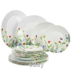 19 pc Luminarc Essence Eufloria Glass Dinnerware Service Set Made in France