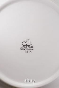 2 Vintage Jackson Custom China Black Gold Restaurant Ware Dinner Plates Plate