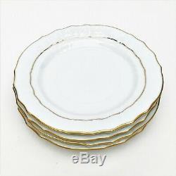 21 Piece Herend Porcelain'Golden Edge' Dinnerware Set