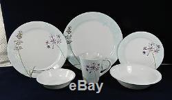 22-pieces Of Corning Corelle Glass Summer Meadow Pattern Dinnerware
