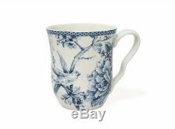 222 Fifth 16-Piece Adelaide Blue White Dinnerware Set Porcelain Square Casual