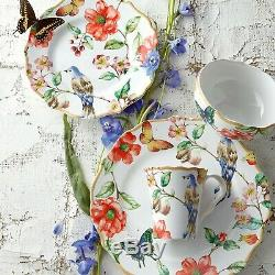 222 Fifth Ambri White 16 Piece Porcelain Dinnerware Set (New)