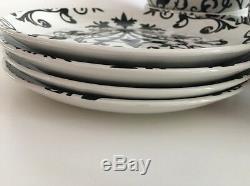 222 Fifth International Rococ Black & White Stoneware Dinnerware Set