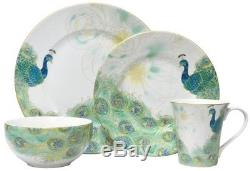 222 Fifth Lakshmi 16-Piece Dinnerware Set Porcelain Holiday Christmas Party Gift