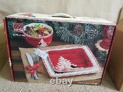 222 Fifth Northwood Cottage 12 Piece Dinnerware Set in box