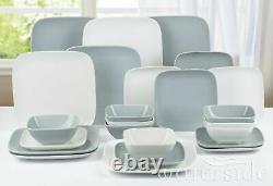 24 Piece Porcelain Crockery Dinnerware Dinner Set Plates Bowls Dining Set For 8