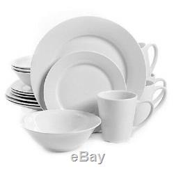 32-Piece Dinnerware Set in White Gibson Home Noble Court Service for 8