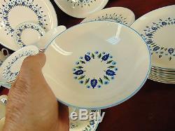 36 Pc Vintage MARCREST Swiss Chalet Alpine PLATES BOWLS CUPS SAUCERS DINNERWARE