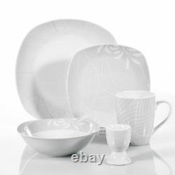 40-Pieces Dinner Set Dinnerware Crockery Serving Dining for 8 Plates Bowls Mugs
