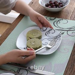 40pcs VEWEET ZOEY Porcelain Complete Dinnerware Set Plates Bowls Egg Stands Mugs