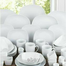 42 Piece Dinner Set Plates Bowls Mugs Dinnerware Crockery Dining Service for 6