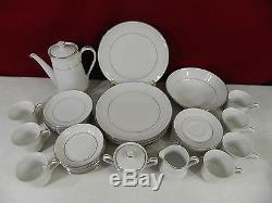 42 Piece Executive House Bridal Brocade Fine China Dinnerware Set