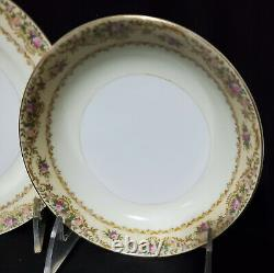 42 pc MEITO CHINA Dinnerware Set HAND-PAINTED Service / 6 JAPAN Porcelain MINTY1