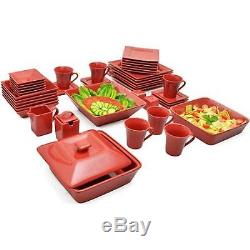 45-Piece Dinnerware Set 6 Colors 10 Strawberry Street Nova Square Banquet Dinner