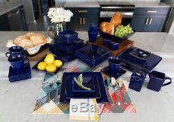 45-Piece Square Dinnerware Set For 6 Banquet Dinner Plates Dinning Bowls Dishes