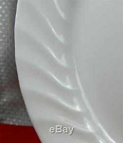 47-pieces Of Corning Corelle Glass Enhancements White Swirl Pattern Dinnerware