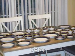 48-PCRosenthal EMINENCE COBALT Dinnerware Set (8) PC Place Setting Near Mint