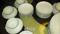 48pc STYLE HOUSE PLATINUM RING PATTERN FINE CHINA