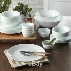 50 pc Service for 8 FROST WHITE Corelle Dinnerware NEW