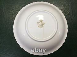 51 Pcs Vintage White Gold ROYAL ALBERT VAL D'OR Bone China England Dinnerware