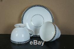 54 Pieces Wedgwood Bone China Black Ulander R4407 China Dinnerware 10 Settings