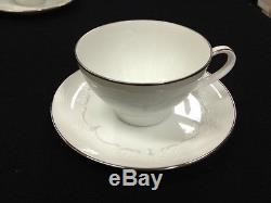 59 pcs. Noritake'Whitebrook' 6441 Dinnerware Plates Bowls Cups Saucers Nice