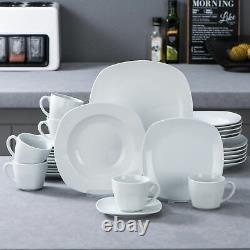 60-Piece MALACASA Elisa Dinnerware Set for 12 Porcelain Dining Kitchen Dish Set