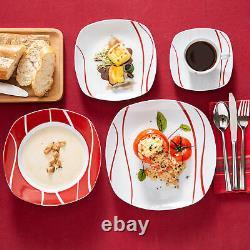 60pcs Dinnerware Set MALACASA Felisa Porcelain Dinner Plates Cups Dinning Dishes