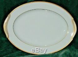 66 Pc Set Noritake Guilford 5291 Gold Dinnerware Gravy Platters Plates Bowls