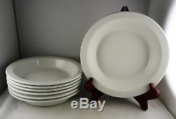 7 Langenthal Suisse Stack Pattern White China Soup Bowls Modern