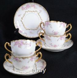 (7) Vintage HAVILAND LIMOGES/ C H FIELD Dinnerware CREAM SOUP BOWLS & SAUCERS
