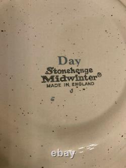 8 Piece DAY Stonehenge Midwinter 1970's Hand Painted Dinnerware Mugs & Plates