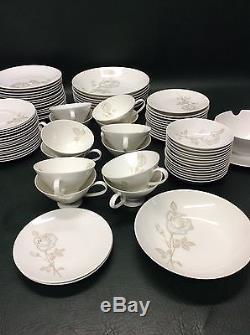 96 Pcs. Mid Century Rosenthal Classic Rose Designed by Raymond Loewy Dinnerware