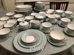 98 Piece Royal Worcester SERENADE 12 Place SETTINGS Dinnerware Plates Bowls Cups