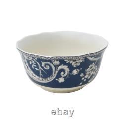 Adelaide 16-Piece Dark Blue Porcelain Dinnerware Set