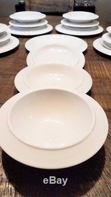 Alessi Tendentse Bavero Set Dinner, salad, soup, cereal 20 pieces