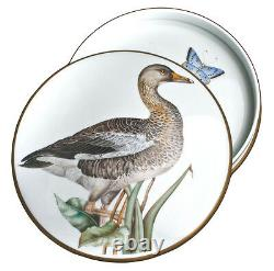 Anna Weatherley 7 Round Hand-Painted Covered Porcelain Box withPainting Of A Duck