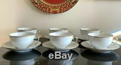 Anna Weatherley Simply Anna Gold Rim Tea Cups and Saucers Set of 6