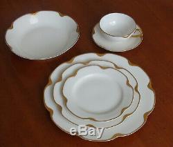 Antique 50-piece Haviland Limoges china dinnerware Silver Anniversary