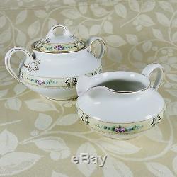 Antique Buffalo China 1920 Porcelain Dinnerware Set Service for 12 USA 102 Pcs